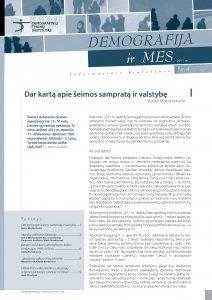Demografija ir mes. 2011 m. Nr. 4