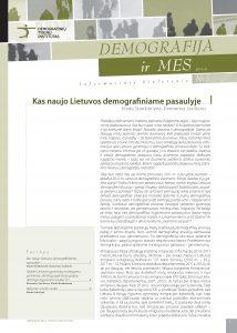 Demografija ir mes. 2012 m. Nr. 5