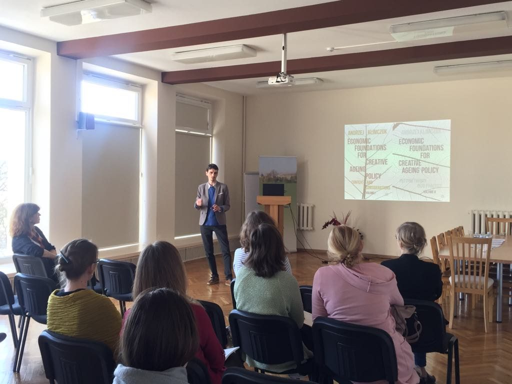 "Open lecture of Dr. Andrzej Klimczuk ""Social Innovations in Ageing"""