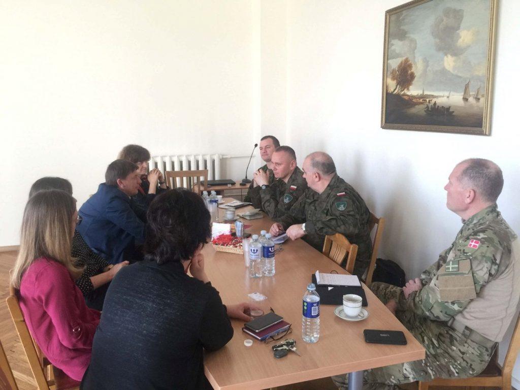 Visit of the Headquarters Multinational Corps Northeast representatives
