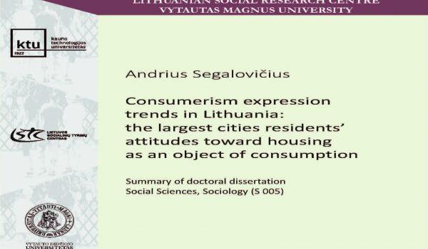 Andrius Segalovičius doctoral dissertation defence